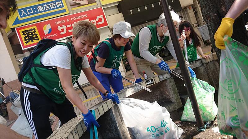 がくさん、川崎をお掃除中のイメージ画像