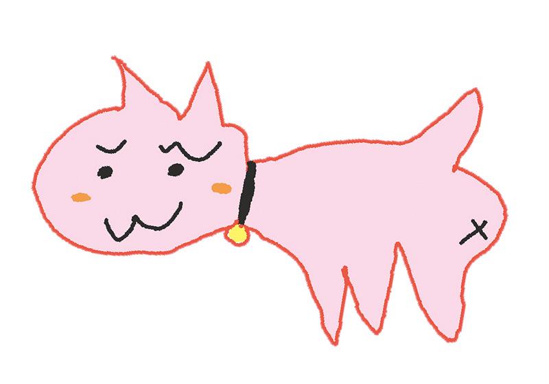 かずささん(7歳)の描いた さいわいにゃんのイメージ画像