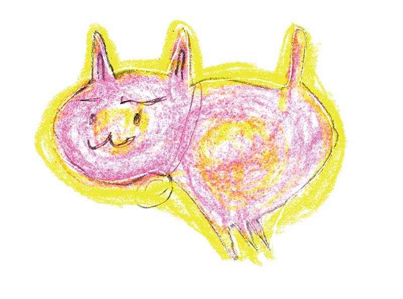 フミ子さん(73歳)の描いたさいわいにゃんのイメージ画像