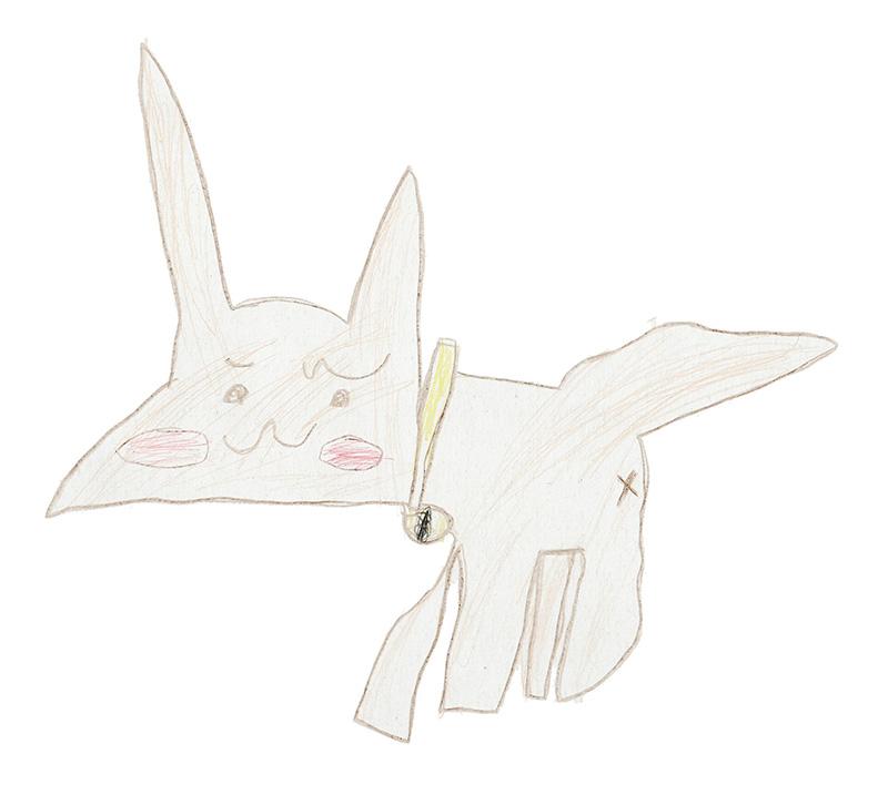菜乃香ちゃん(5歳)の描いたさいわいにゃんのイメージ画像