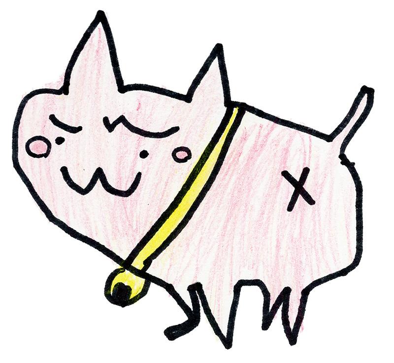 航輝くん(7歳)の描いたさいわいにゃんのイメージ画像